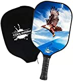 Cooloutdoors Pickleball Paddle, Graphite Rackets & Polymer Core, Honeycomb Core Inside, Slim Edge Guard, Pickleball Rackets Lightweight for Men Women Kids Indoor Outdoor