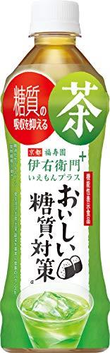 サントリー 伊右衛門 機能性表示食品 プラス おいしい糖質対策 お茶 500ml ×24本