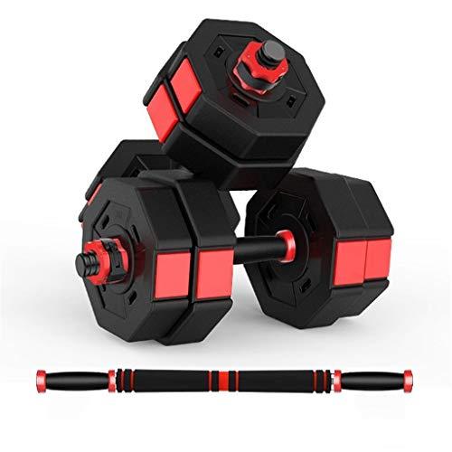 Manubri Ottagonale Bilanciere Muscolare del Braccio Domestico Attrezzatura Sportiva per Il Fitness Un Paio di Dadi A Scatto Regolabili da 20/30 kg (Color : Red, Size : 5kg*2)