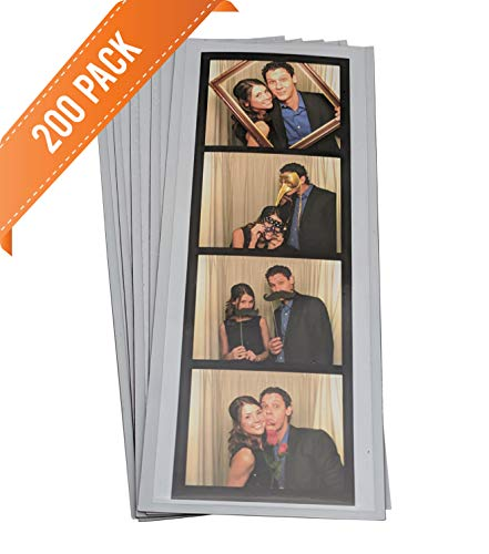 "200 Magnetic Photo Booth Frames for 2"" X 6"" Photo Strips"