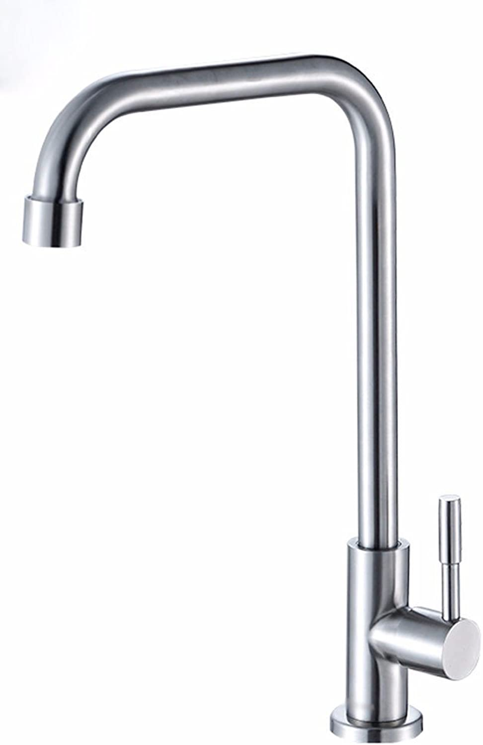 Bijjaladeva Antique Kitchen Sink Mixer Tap Stainless Steel Cold-hot-Cold Before The Kitchen Sink Single Handle Single Hole Bathroom Sink Faucet B
