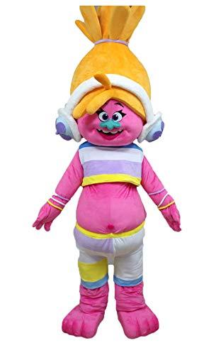 Adult Trolls Costume Trolls Dj Suki Mascot Costume Dj Suki Full Body Plush Suit Fancy Dress