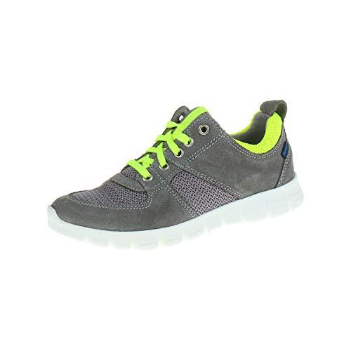 Richter Schuhe für Mädchen Sneaker Laufschuh Sportschuh Schnürhalbschuh Rock ash neon Yellow 66225416101 (31 EU)