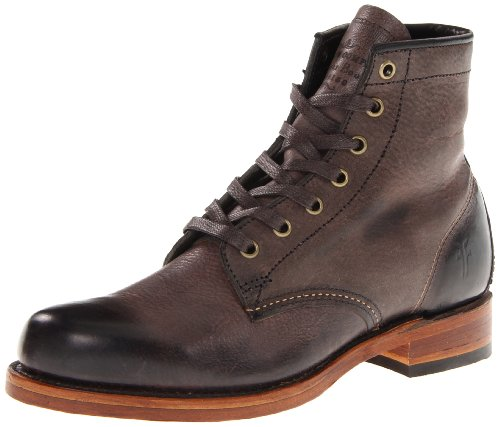 FRYE Men's Arkansas Mid Leather BootBrown10.5 M US