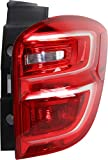 Tail Light Assembly Compatible with 2016-2017 Chevrolet Equinox Red Lens CAPA Passenger Side