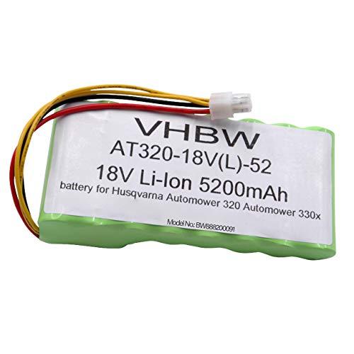 vhbw batería Compatible con Husqvarna Automower 435X AWD cortacésped Robot cortacésped (5200mAh, 18V, Li-Ion)