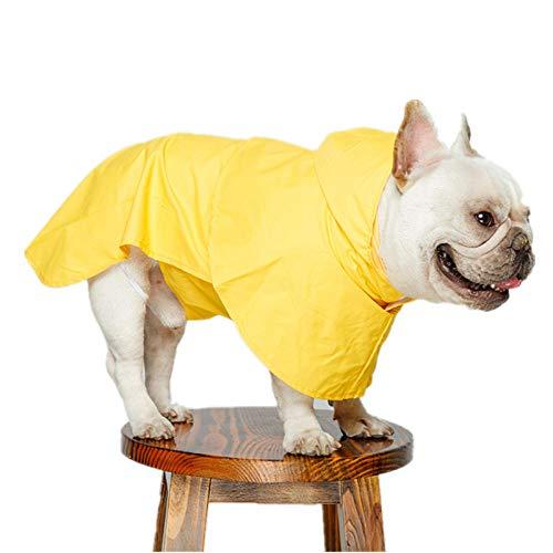 Aexit Chubasquero para Perros con Capucha Chubasquero para Perros Ropa para Perros nuevos Chubasquero Impermeable para Perros Chubasquero Reflectante para Mascotas Collar Hole Amarillo XL