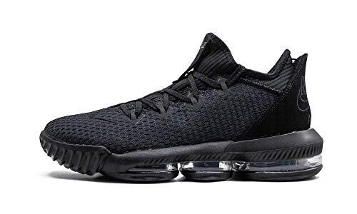 Nike Lebron 16 Low Basketball Shoes (M10/W11.5, Black/Black/Black)
