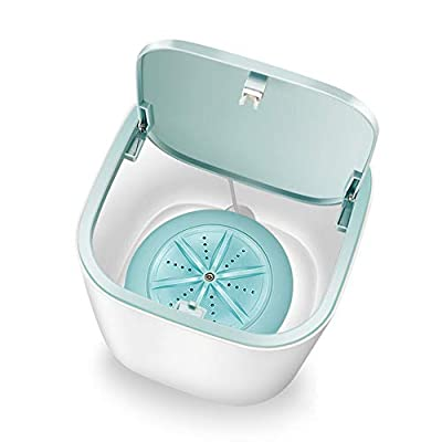 Nanssigy Portable Washing Machine, USB Chargeable Rotate Bidirectional Mini Cleaning Machine for Female Underwear/Baby Clothes Underwear/Stockings, Tie