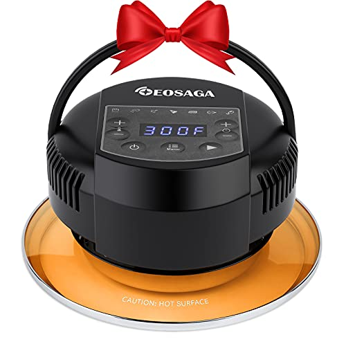 Air Fryer Lid for Instant Pot 6 Quart & 8 Quart Electric Pressure Cooker Lid with 7 Optional Presets and LED Touchscreen Turn Your Pressure Cooker into Air Fryer- 95% Less Oil- Included 7 Accessories