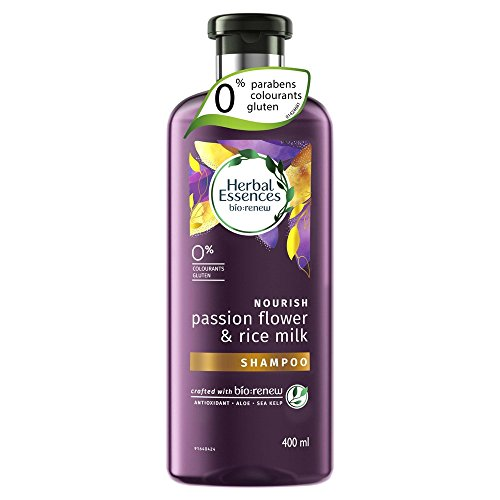 Herbal Essence bio:renovar Champú, Passion Flower y Arroz Leche Nourish, 400 ml