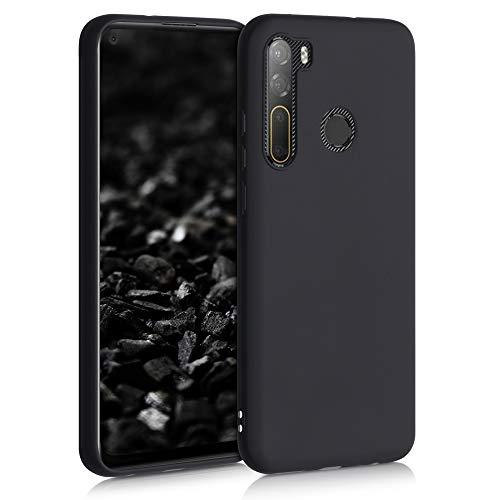kwmobile Hülle kompatibel mit HTC Desire 20 Pro - Hülle Silikon - Soft Handyhülle - Handy Case in Schwarz