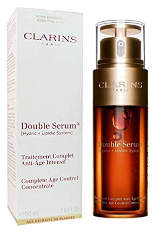 Clarins Double Serum Complete Age Control Concentrate, With Turmeric 1.6 Fluid Ounce (Luxury Size)