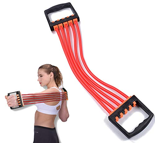 ChirRay Adjustable 5-Spring Latex Chest Expander Pull Stretcher Muscle Training Gym Women Children