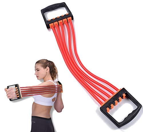 ChirRay Verstellbare 5-Feder-Brustdehner, Latex, für Muskeltraining Fitnessstudio Frauen Männer und Kinde