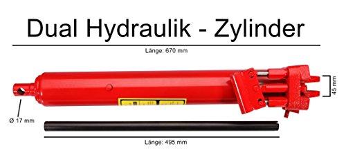 Hydraulikzylinder 8t Hub 495 mm mit Doppelpumpe Ersatzteil Werkstattkran