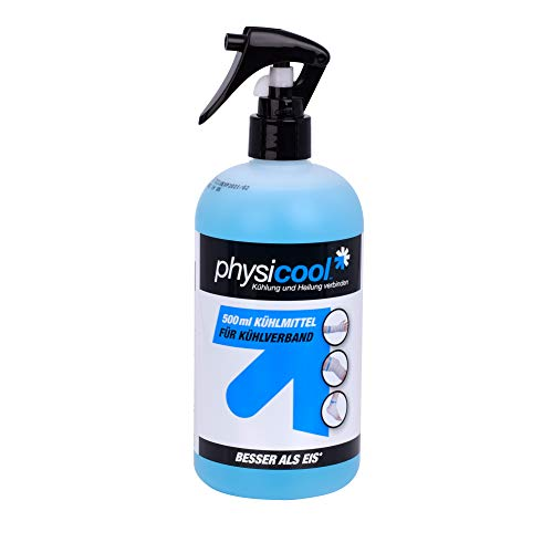 Physicool Kühlmittel für Kühlverband I Klinisch erprobte Kühlflüssigkeit für Verband, Kompresse & Kühlbandage I Entzündungshemmende & schmerzlindernde Kälte-Therapie I Dermatologisch getestet I 500 ml