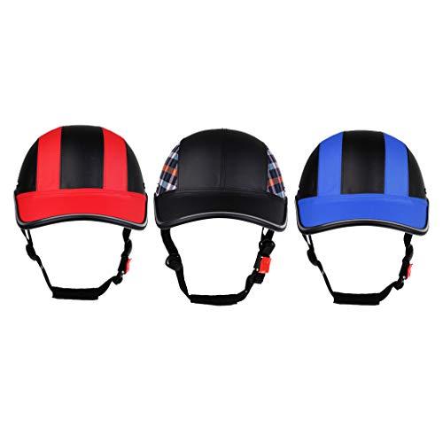 Amagogo Casco de Estilo Gorra de Béisbol Ultraligero de 3 Piezas para Sombrero de Monopatín de Bicicleta para Mujer