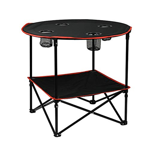 Tavolo da campeggio Tavolino da campeggio portatile per picnic, spiaggia, giochi, tavoli da campeggio e da esterno pieghevole con 4 portabicchieri e borsa da trasporto per viaggio e stoccaggio