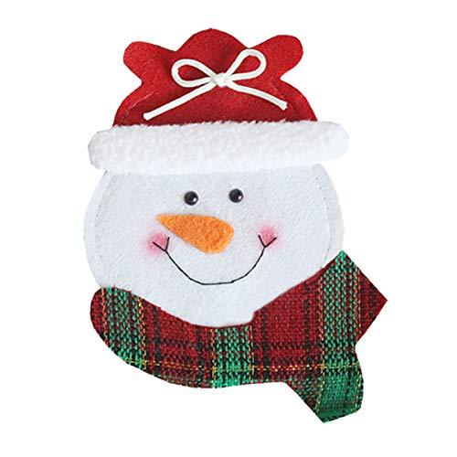 Honorall Supporti di argenteria Natalizia Tavolo da Pranzo per Feste Decorazioni per la tavola Forniture per Posate di Natale Porta coltelli e forchette Decorazione da tavola