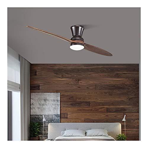 CXSMKP 42-Zoll-Licht LED Village Holz Deckenventilator Mit Licht, 3-Gang-Holz Deckenventilatoren Mit Lichtern, Dekorative Deckenleuchte Ventilator Lampe,Schwarz