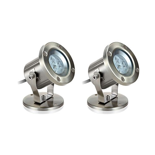 parlat LED Wand-Leuchte, Outdoor, 5W, 130lm, IP55, 230V, warm-weiß, 2 Stk.
