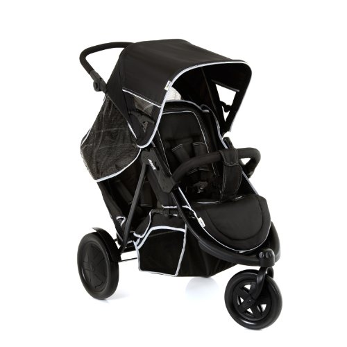 Hauck Freerider 3 Wheel Sibling Pushchair up to 36 kg, in Line Tandem, with Removable Second Seat,...
