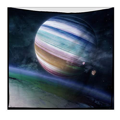 nobranded Cosmic Starry Tapestry Universo para Colgar en la Pared Nebulosa del Espacio Profundo Cielo Azul Colcha Manta Tapiz de Arte para Dormitorio Decoración de la Pared del Dormitorio