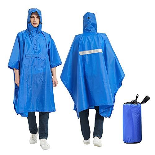 YLLQXI Regenponcho Wasserdichter Regen Poncho Regenmantel mit Kapuze Regenponcho für Camping Regenmantel Wasserdichter Regenjacken Wiederverwendbar Regenschutz mit Kapuze