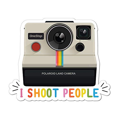 I Shoot People Polaroid Land Camera Photography Retro Vintage Car Sticker Decal