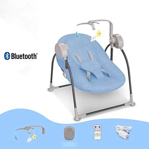 ZWQ kids Chaise berçante, Table Berceau Pliant bébé, Chaise Confort Nouveau-né endormi, Shaker Enfant, adapté pour 0-2 bébé,E