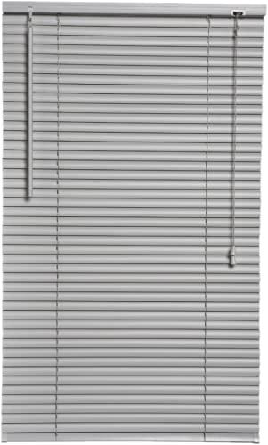 Srebrne/szare żaluzje z PCW, łatwe dopasowanie, przycinane żaluzje, zasłony, okucia, okna, rolety, otwierane, zamykane, -, (srebrne/szare, 45 x 150 cm)