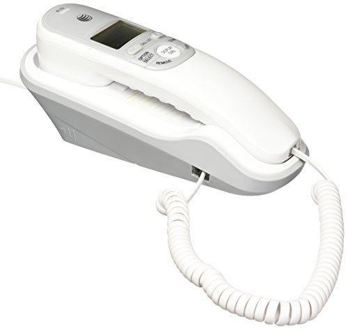 AT&T TR1909 Trimline Corded Phone with Caller ID, White