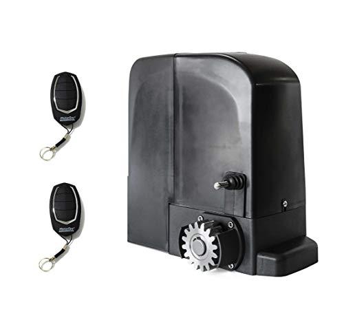 KIT Motor corredera uso intensivo Motorline Bravo524 (24v), para automatizar puertas y cancelas correderas de uso residencial, parking, garaje, cochera, alta calidad con 2 mandos alta seguridad