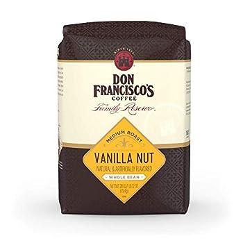 Don Francisco s Vanilla Nut Flavored Whole Bean Coffee  28 oz Bag