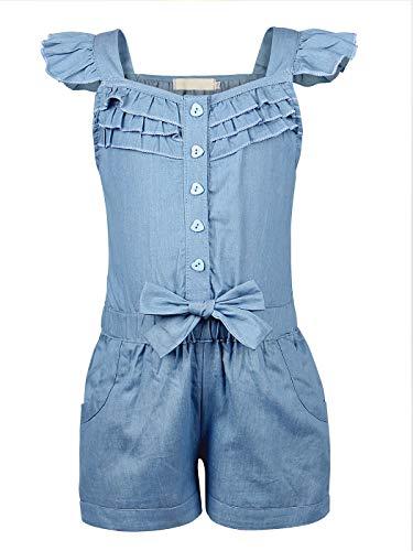 Kantenia Bebê Salto curto Da menina Desprezível Romper One-Piece Botão Cima Camisa Conjunto de vestuário de verão