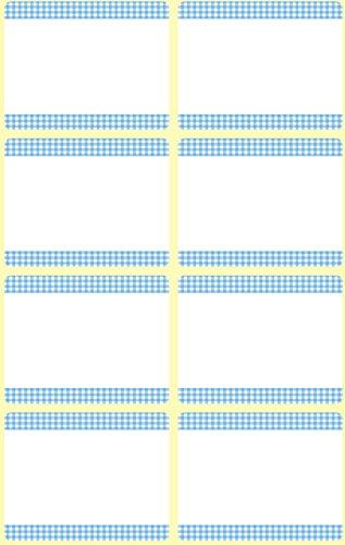 AVERY Zweckform 59371 GefrierEtiketten temperaturbeständig bis zu -20°C 40 Aufkleber weiß blau