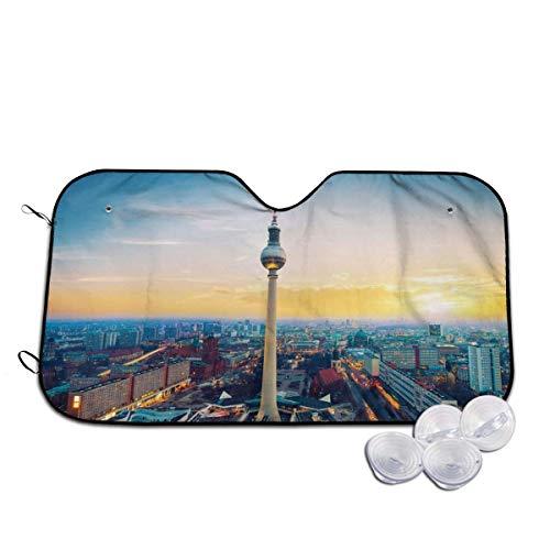 Du-shop Brandenburger Tor Berlin Deutschland - Sonnenschutz der Windschutzscheibe - Sonnenschutz für PKW-SUV - Blockiert UV-Strahlen Sonnenschutz - Hält Ihr Fahrzeug kühl