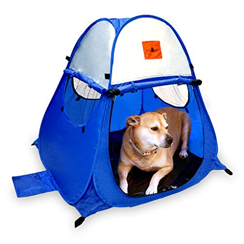 MYDEAL PRODUCTS Pop Up Dog Tent Outdoor Camping Large Doggy UV Sun Shelter for Shade and Weather Protection - Perfect for Yard, Beach and Outdoors!