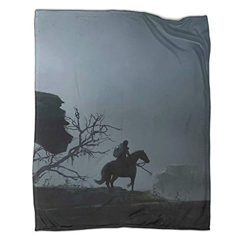 Xaviera Doherty The Witcher 3 Geralt Wild Hunt Game Flannel Blanket thickened40x50inch(100x130cm) Comfortable Plush Keeps warmOffice air Conditioning Lunch Break Blanket Shawl Blanket
