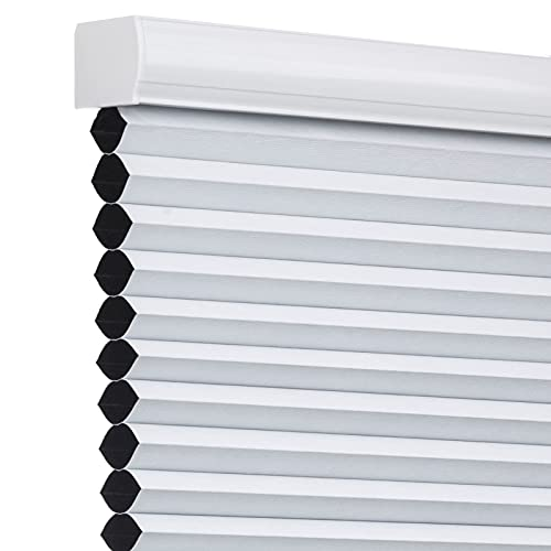 Changshade Cordless Blackout Cellular Shade, Honeycomb Shade with The Diameter of 1.5 inch Honeycombs, Room Darkening Pleated Window Shade for...