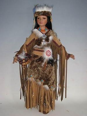 """Jmisa 30"""" Porcelain Indian Doll"""
