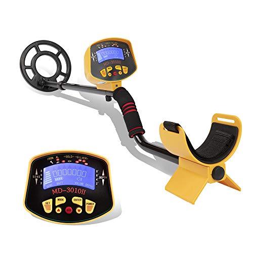 TRF Detector de Metales, Detector de Metales Profesional Totalmente automático con Pantalla LCD - Varilla Ajustable, Sensible Bobina de búsqueda - para Principiantes y Profesionales