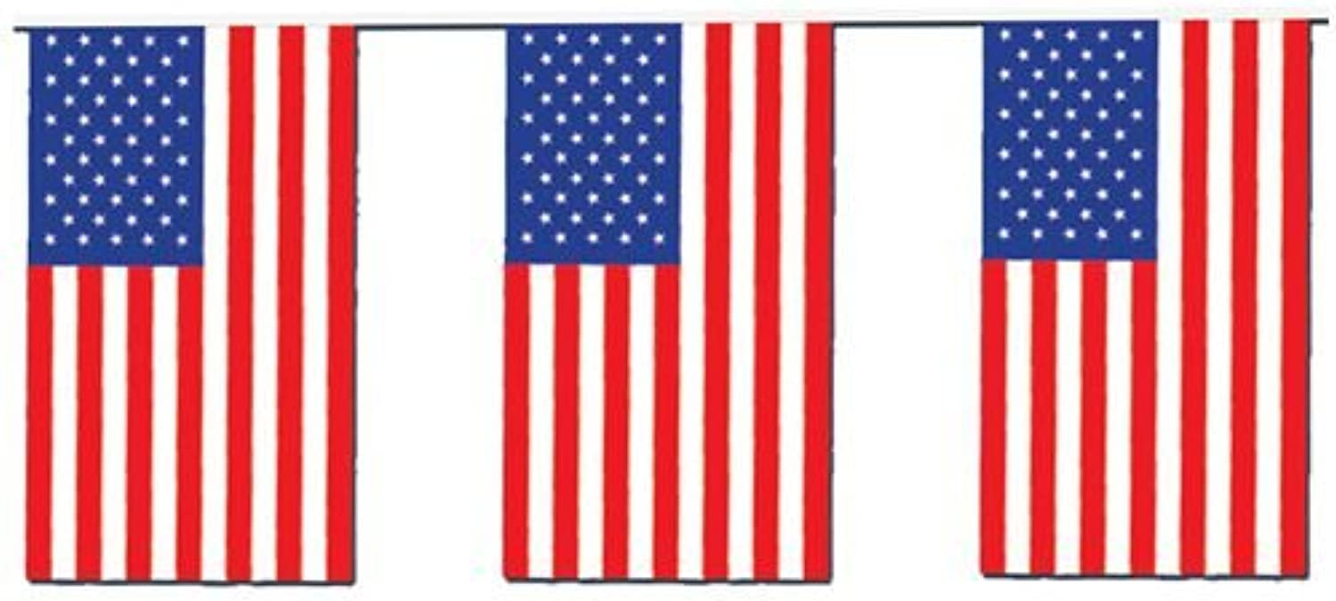 IdealWigsNet Outdoor American Flag Bunting  20m (60ft)