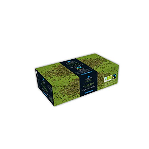 LA TETERA AZUL 100 biologische groene theezakjes met pepermunt. Biologische Moorse Groene Thee Marokkaanse Arabische Stijl. 100 zakjes van 1,5 gram.
