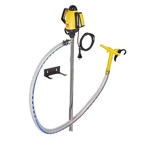 Lutz Pumpen | Fasspumpen-Set - B2 Vario NIRO | Motor elektrisch (200 W) | Tauchtiefe: 500 mm (Kleingebinde) | für flüssige Schmiermittel und Reinigungsmittel