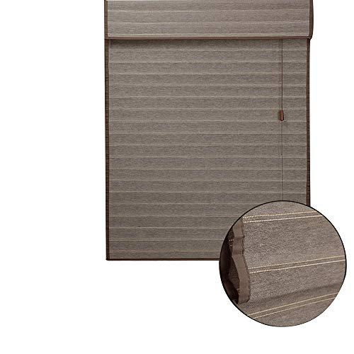 JIAYUAN blind van bamboe, blind met lamellen, retro, ruimteverdeler, milieuvriendelijk, stofdicht, ondoorzichtig, voor ramen en deuren