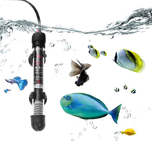Shengruili Aquarium Heizung, 50W Unterwasser Fish Tank Heater mit Thermometer und Saugnapf