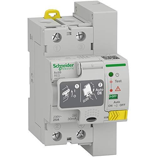 Schneider restart salvavita riarmo automatico differenziale 2p 25a 30ma a9cr2225