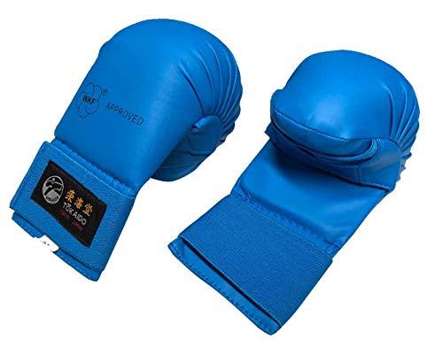 Tokaido Faustschutz WKF rot blau Karate-Faustschützer für Training und Wettkampf (blau, XL)